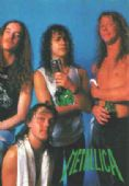 Metallica - 'Group Blue Background' Postcard